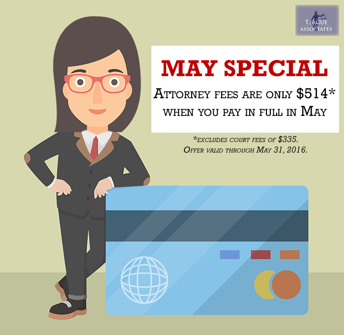 May Special: $514 Attorney Fees
